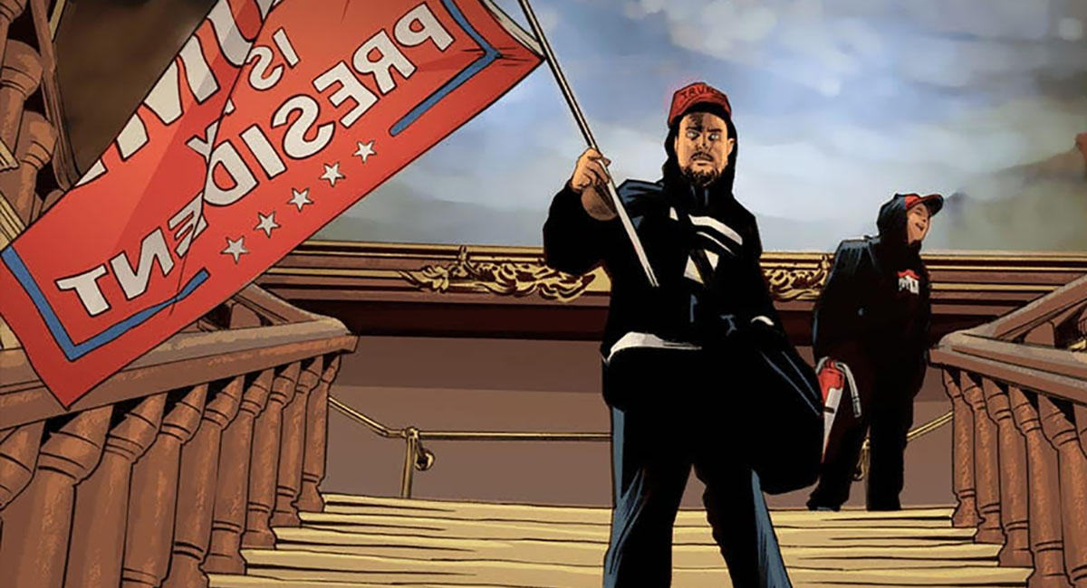 A Year of Free Comics: AMERICAN CARNAGE illustrates the January 6th insurrection at the Capitol